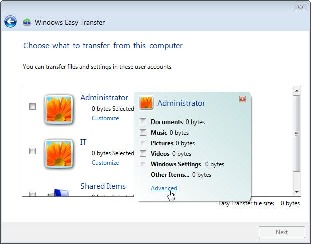 5.1.4.4 Lab – Data Migration in Windows Answers 07