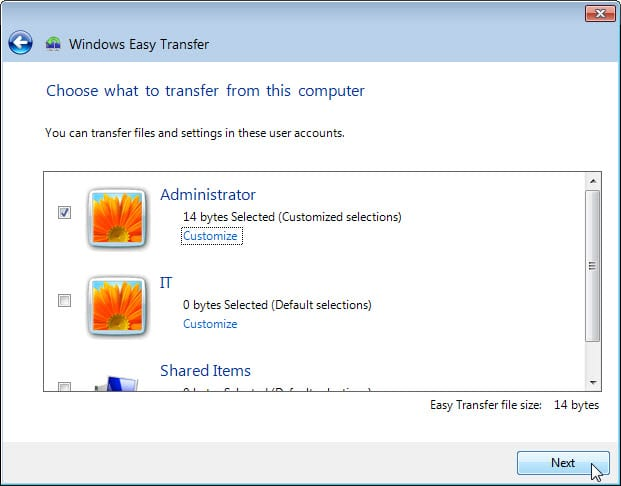 5.1.4.4 Lab – Data Migration in Windows Answers 09
