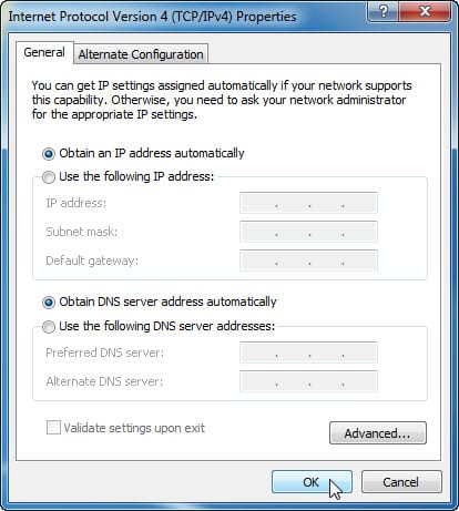 7.4.1.11 Lab – Configure a NIC to Use DHCP in Windows Answers 03