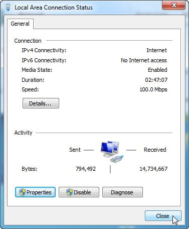 7.4.1.11 Lab – Configure a NIC to Use DHCP in Windows Answers 05