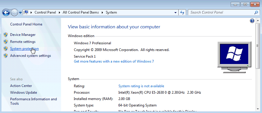 6.3.1.7 Lab – System Restore in Windows 7 and Vista Answers 01