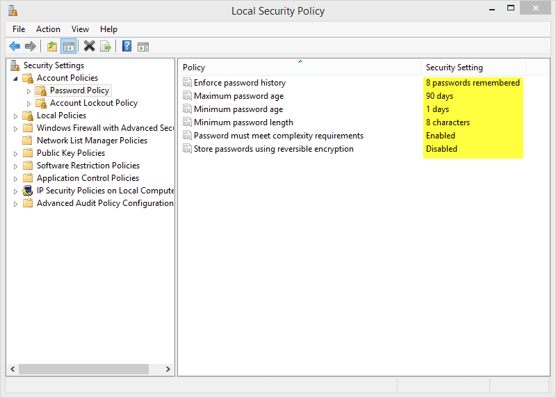 12.2.1.8 Lab – Configure Windows Local Security Policy Answers 05